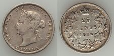 Canada 1872 H Silver 25 cents-Nice