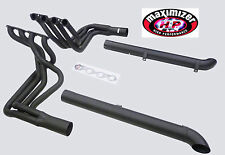 Maximizer Header For Corvette 1965 To 1974 Chevy BBC Side Pipe Matt Black w/kits