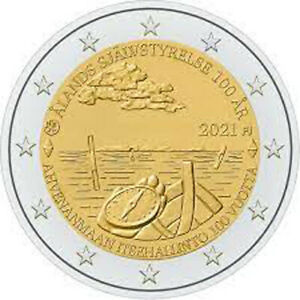 FINLAND 2021. 2 EURO COIN 100 YEARS OF SELF GOVERNMENT IN THE ÅLAND REGION.UNC!!