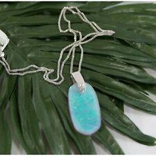 Kendra Scott Rhodium Inez Amethyst Dichrotic Glass Long Pendant Necklace NWT