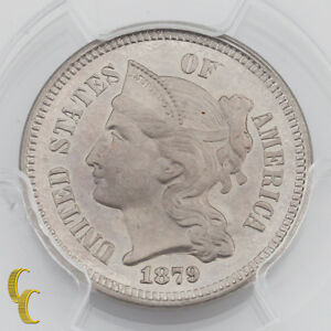 1879 Proof Three Cent Nickel 3CN PCGS Graded PR66