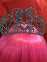 85th Birthday GLITTERED SPARKLE TIARA - Party NEW Over The Hill