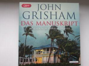 Hörbuch  DAS MANUSKRIPT  von John Grisham - 2 MP3 - CD - SUPER!!!