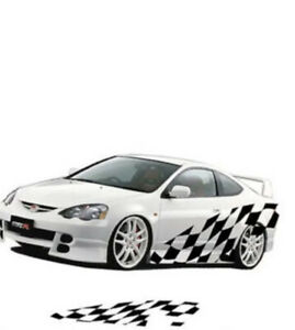 X2 Side Vinyl Car checked Side Body Graphics Decal Sticker