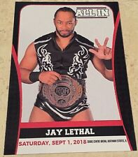 All In Jay Lethal #22 Trading Card, ROH, TNA, JAPW, JAPW, Lucha Libre USA, FWE