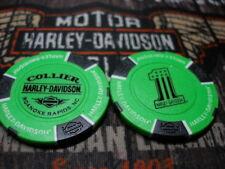 Neon Green & Black #1 Poker Chip Collier Harley Davidson Roanoke Rapids, NC