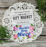 DecoWords Fridge Magnet WORLD'S BEST NIECE MAGNET GIFT All Family available NEW
