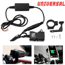 Waterproof Dual USB 12V Motorcycle Auto Car Handlebar Charger Socket w/ Switch