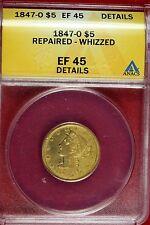 1847-O Liberty Head $5 Gold Anacs Xf45 #B9825
