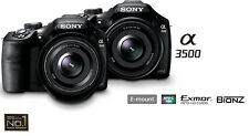 New Sony Mirrorless A3500 Body + 18-50mm f/4-5.6 Lens (ILCE-3500J) ex-Display