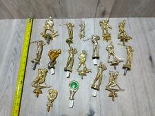 New listing Trophy Topper Finial Lot Golf Hockey Baseball Pool Vintage 16 Assorted Pieces