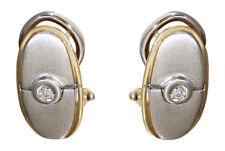 Ohrclips Gold 585 zweifärbig - mit Brillanten - Ohrringe - Ohrstecker Gold 14 kt