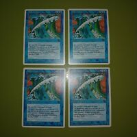 Wall of Water x4 Fourth Edition 4th 4x Playset Magic the Gathering MTG