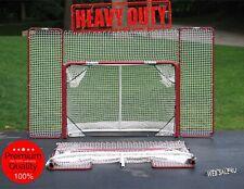 Hockey Training Goal Net w/ Backstop Folding Premium Steel Shot Practice Targets