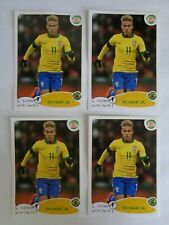 4 Lot Neymar Jr  Panini Road to Brasil 2014 Sticker # 18 Rookie