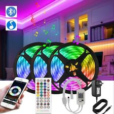 15M LED Strip Lights Music Sync Bluetooth 50FT App Remote Control For Bar Rooms