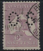 9d Kangaroo 3rd wmk QLD Postmark * BRISBANE * cds  ACSC B/W 27 wa sg O47 b CV$75
