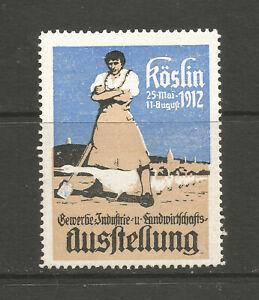 Poland/Koszalin (Köslin) 1912 Trade Fair poster stamp/label