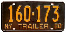 Vintage New York 1960 TRAILER License Plate, High Quality, Airstream, Kenskill