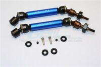 GPM Racing Traxxas Slash 4x4 Blue Metal Front CVD Driveshaft Set SSLA1280FH-B