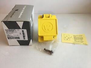 Woodhead Watertite Flip Lid Receptacle Nema L6-20 67W48 250 Volt 20 amp