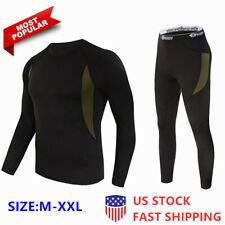 Men`s Thermal Underwear Set Winter Warm Ultra-Soft Inner Wear Fleece Line Set