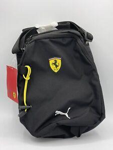 PUMA Scuderia Ferrari Fanwear Portable Crossbody Shoulder Bag Black NWT Unisex