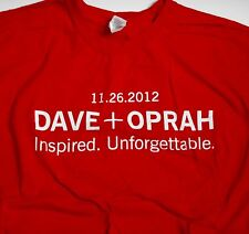 "NOS ""Oprah + Dave Letterman"" BSU Interview Show 11.26.2012 Red T-Shirt - Size XL"
