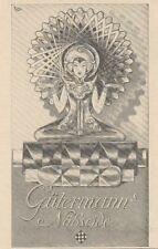 Y6848 GUTERMANN'S nähseide -  Pubblicità d'epoca - 1929 Old advertising