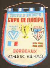 FOOTBALL FANION PENNANT WIMPEL BANDERIN BORDEAUX BILBAO CHAMPIONS CUP 1984