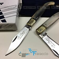 COLTELLO PUGLIESE CORNO ARTIGIANALE FRARACCIO MADE IN ITALY CACCIA FOLDING 17 cm