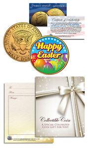 HAPPY EASTER * Easter Eggs * JFK Kennedy Half Dollar Coin 24K Gold Plated GIFT