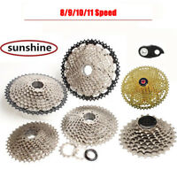 SUNSHINE MTB Bike Cassette 8/9/10/11Speed Mountain Freewheel fits Shimano SRAM