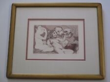 CHARLES BRAGG ETCHING PORTRAIT NUDE WOMAN WOMEN SATIRE LIMITED EDITION SIGNED