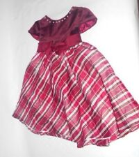 Girls Copper Key Size 3 Cranberry Cap Sleeve Dress with Pearl Neckline    F-730