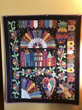 """ CRAZY QUILT"" - WOOL APPLIQUÉ - EXQUISITE HAND EMBROIDERY"