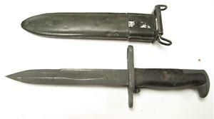 Korean M5 Garand Bayonet/Knife  with shortened m7 Scabbard