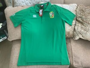 Canterbury British Lions 2021 Polo Green Shirt Size XL Brand New With Tags