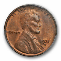 1931 S 1C Lincoln Wheat Cent PCGS MS 64 RB Uncirculated Red Brown Cert#44