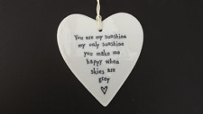 East Of India Porcelain Heart Hanging Sign Plaque My Sunshine Ideal Gift