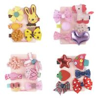 6Pcs/set Hairpin Baby Girl Hair Clip Bow Flower Mini Barrettes Star Kids Infant