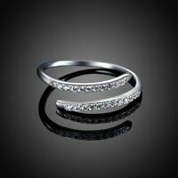 Hot Exquisite  Engagement Jewelry Cubic Zirconia S925 Silver Wedding Ring