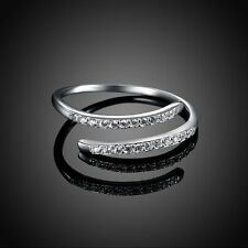 Exquisite Engagement Jewelry Cubic Zirconia S925 Silver Wedding Ring
