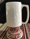"""Vintage Schlitz 7"""" Beer Pedestal Mug/Stein Pottery USA"""