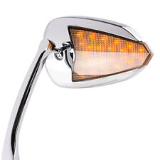 mirrors FLASH OVAL chrome aluminum LED for Harley HERITAGE SOFTAIL CLASSIC