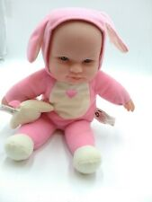 """Berenger Jc Toys 12"""" Baby Doll Sound W/Dog Toy in Dog Costume"""