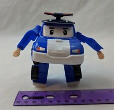 """Transforming Police Car 3.5"""" Long Robot Toy New - No Package"""
