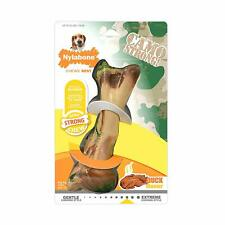 Nylabone Rubber Strong Chew Duck Flavor Camo Bone for Dogs Wolf