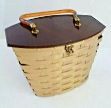 Vintage Dorset Rex Lucite Top Gold Colored Braided Case Purse Handbag