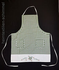 Küchenschürze Schürze Latzschürze Kochschürze Grillschürze Backschürze grün-weiß